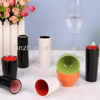 New hot custom design two-tone ceramic wine cups and egg cup