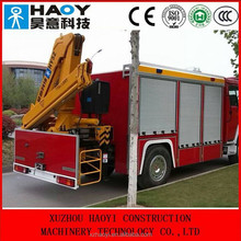 mini truck loader cranes with 3 knuckle booms radio control for sale