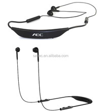 necklace sports stereo wireless bluetooth headset with double microphones