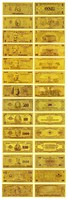 Wholesale US banknote set 999.9 pure gold $1 to 1 Billion Dollars 24K Gold Foil Banknote Great Promotion Gift Present