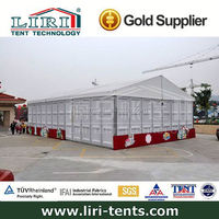 Unique Design 10m aluminium frame pvc coated exhibition wedding tent