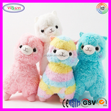 D327 Colorful Animal Alpaca Stuffed Rainbow Soft Alpaca Plush Toys