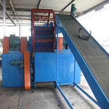 waste truck/van/bus tire recycling plant to mulch rubber and wire