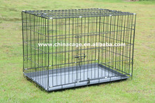 folding metal wrie dog crate,pet crate