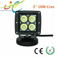 "12v/24v 3""16W Cree LED motorcycle headlight,tractor ,trcuck,jeep,atv work light"