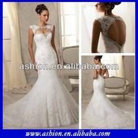 WE-2187 Detachable keyhole yoke fit and flare latest wedding dress the latest model wedding dress manufacturer bangkok