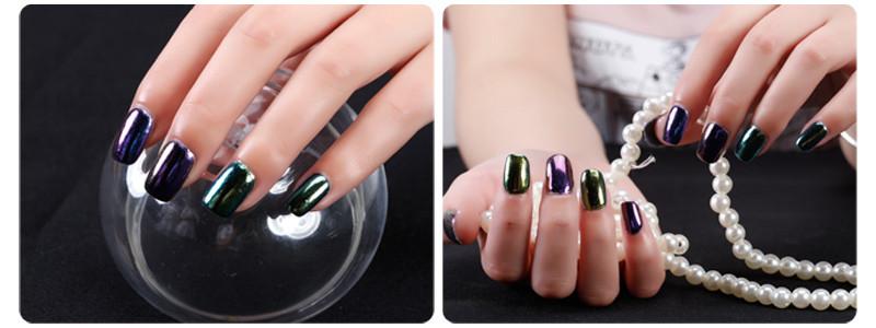 61603c vente chaude canni nail glitter pigment poudre nail for Effet miroir paint