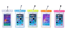Universal Mobile Phone PVC Waterproof Dry Bag Case with IPX8 Certificate for iPhone 4 4s 5 5s 5c ect