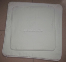 100% cotton canvas cushion cover with piping in white color with hidden zipper