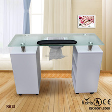 Hot selling glass nail care tools beauty manicure nail table (N015)