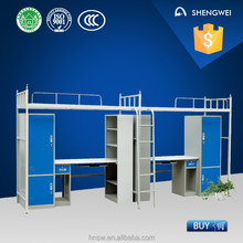 Hot selling kids bed bunk with locker and desk