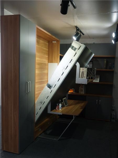 현대 침실 공간 절약 가구, 벽 침대 접이식 책상, 숨겨진 벽 침대 ...