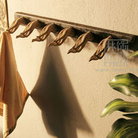 Q224-82 Classical With Hook Durable Wooden Towel Bar