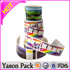 Yason self adhesive bottle stickers colorful or simple stickers in piece or rolls car side sticker