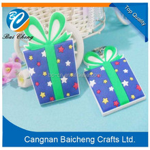cheap price lovely chrismas tree gifts of rubber key rings as 2015 wonderful promotion presents for family and business partners