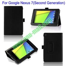 Flip Leather Tablet Case Cover for Google Nexus 7 II with Stand and Card Slots
