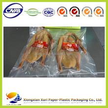 food grade plastic packaging bags for frozen chicken/meat/beef/pork