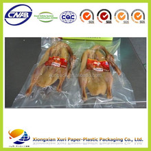 food grade plastic packaging bags for frozen chicken/meat/beef/pork