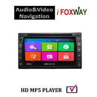 6.2 Inch Universal 2 din carplay gps navigation with free mirror-link and airplay pre-installed map