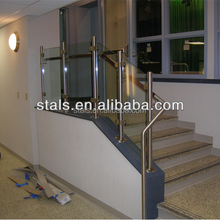 Porch and Balcony ,Stair workable Cheap&Fashion residential fence glass clamp rail stainless steel baluster designs