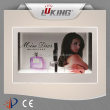 22 inch clear display transparent advertising box