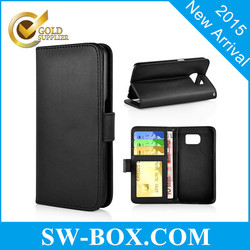 For Galaxy S6 Stand Leather Case Cheap Case with Card Slot