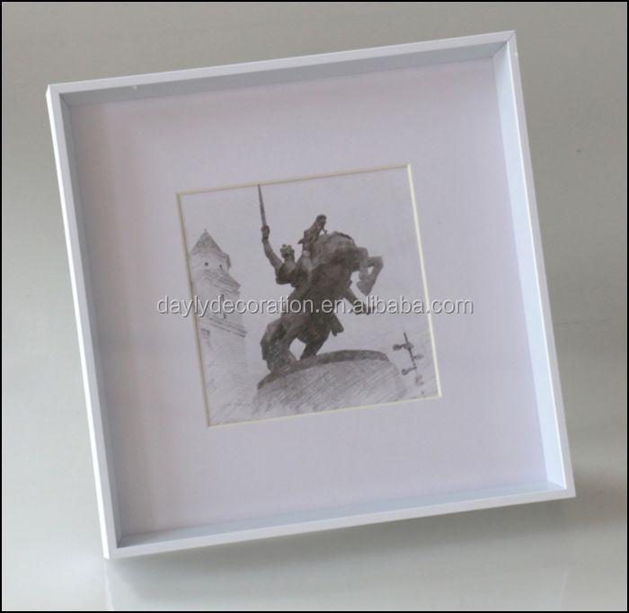 Black Shadow Box Frame Wholesale With Mat Open Unbroken Plexiglass ...