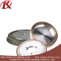 45/ miter Double Grooves Diamond Profile Wheel PE / FA diamond grinding wheel for thick glass