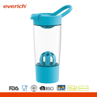 24oz personalized Tritan extra container plastic shaker bottle with mixer