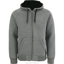 2015 Top sale thick fleece zip- up hoodies wholesale custom hoodies & sweatshirts