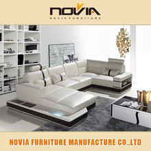 2015 guangzhou furniture leather living room sofas