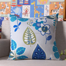 Country style leaves flowers 100% cotton printed cushion cover wholesale 2015 design pattern pillow Case cover