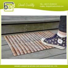 bamboo design welcome entrance floor mat