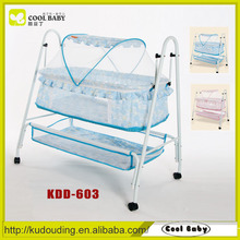 Manufacturer Portable Lightweight Swing Baby Bed with Mosquito Net and Storage Basket Rocking Bed for Baby Cradle
