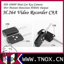 HD 1080P Mini Car Key Camera DVR Motion Detection HMDI Output H.264 Video Recorder C9A