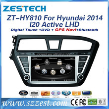 2 din car dvd player with GPS BLUETOOTH RADIO DVB-T DVB-T2 for Hyundai I20 Active 2014 LHD