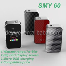 2015 alibaba express new products SMY 60 variable voltage mod smy60 box mod e cigarette from original smy factory