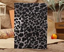 Whoelsale Fashion Leopard Leather Flip Case for iPad Case