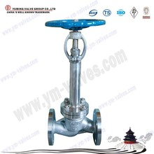 China manufacture long stem low temperature/cryogenic flange ends shut-off/globe valve