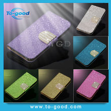 Luxury Glitter Diamond PU Wallet Leather Phone Cases For Ipod Touch 5 Flip Buckle Stand Card Holder For Ipod Touch 5 Case Cover