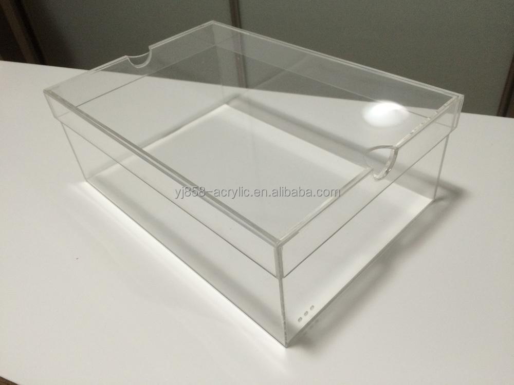 Acrylic Shoe Boxes : Customized transparent acrylic shoe box for nike brand