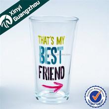 16oz promotional milk drinking glass/pint glass/water glass