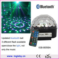 6 color disco home party led bluetooth speaker light ball