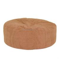Solid Corduroy Fabric Sofa Beanbag
