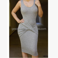 2015 summer new fashion dress Europe women High Quality Hot Sale sleevless Slim dress Personalized package hip dress