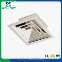 aluminum 4 way supply ceiling air conditioning diffuser size for hvac system