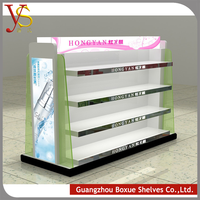New technology 2015 innovative product cosmetic display rack ,display cabinet ,cosmetic showcase