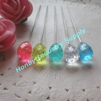 70mm Gorgeous Long Hijab Stick Pin with Plastic Head