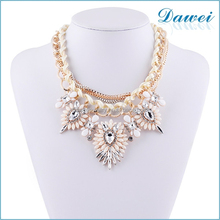new design hot selling rhinstone luxury costume jewelry necklace
