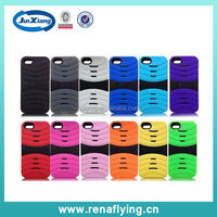 wholesale alibaba stripe pattern robot 3 in 1 pc silicone phone case for iphone 5